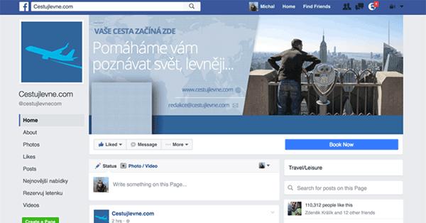Nový design Facebook stránek