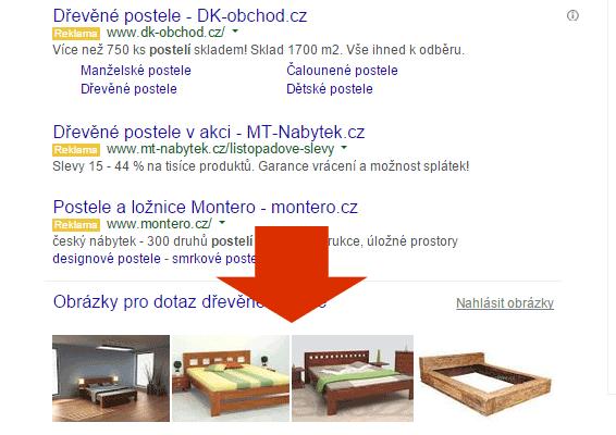 Obrázky ve výsledcích vyhledávání