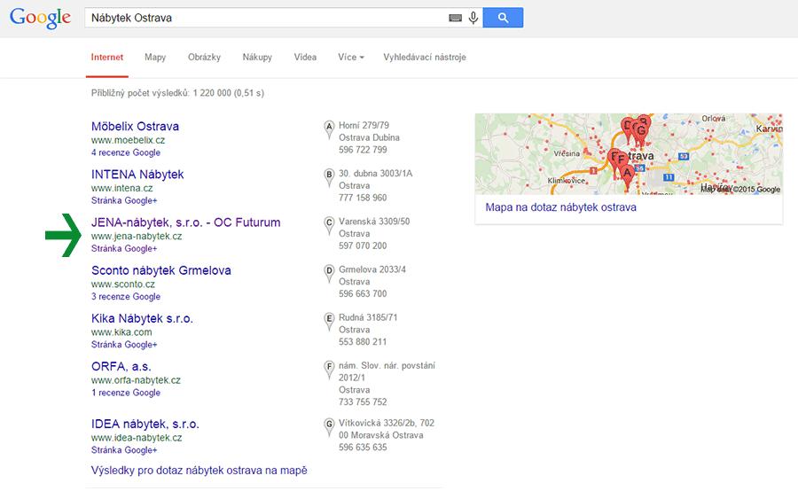 firmy na mapě