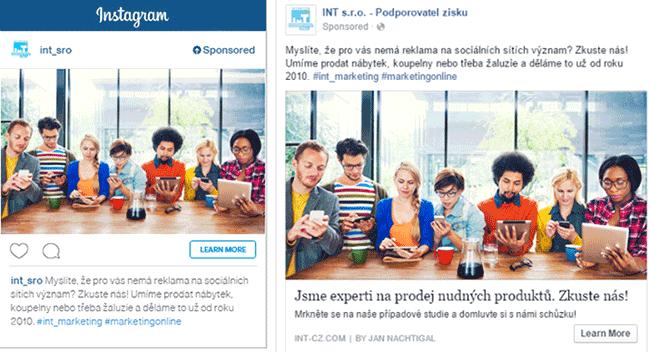 INSTAGRAM ADS – reklama dva v jednom