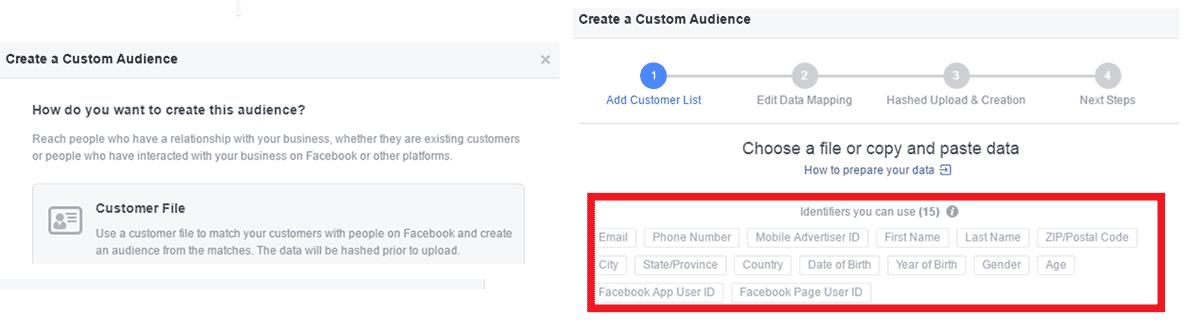 Custom Audience ze souboru – rozšíření parametrů